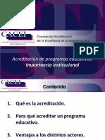 Presentación 1_Acreditación de PE_Importancia Institucional