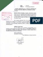Vicente Flores Cruz-Agraviado solicita a la Fiscalía Ambiental se reprograme constatación de hechos