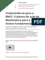 Preparando Se Para a Bncc 5 Planos de Aula de Matematica Para o Ensino Fundamentalpdf