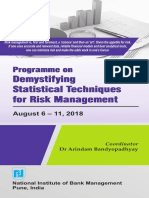 Programme on Demystifying Statistical Techniques for Risk Management