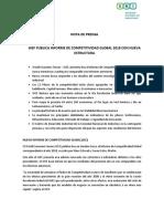 Nota de Prensa Índice de Competitividad Global 4.0 FINAL