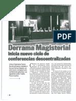 Derrama Magisterial. Inicia nuevo ciclo de conferencias descentralizadas