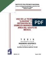 Uso de La Tecnología Q-MARINE Para Obtención de Datos Sísmicos Marinos 3D en Un Área Del Golfo de México