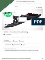 SCION _ a Revolution in Snow Sledding by Snolo Sleds — Kickstarter