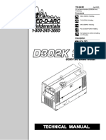 engine driven Miller D302K3-12 Technical Manual