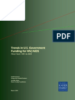 Issue Brief Trends in u s Government Funding for Hiv Aids Fiscal Years 1981 to 2004