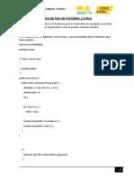 Programas Ejemplos de Uso de Variables y Ciclos