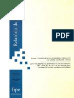 Fipe Relatório Aspectos Economico Financeiros Aterros