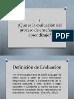 Que es la evaluación del proceso de enseñanza aprendizaje