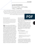 401k Investments Marrying Investment Policy With Funding Policy in DB Plans