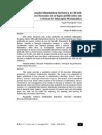 2018 - SET a Educação Matemática Inclusiva No Brasil Uma Análise Baseada Em Artigos Publicados Em Revistas de Educação Matemática