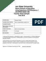 eled 496 teacher work sample