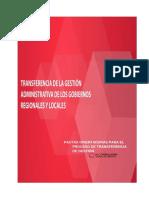Pautas Para La Transferencia de Gestion Gobirnos Regional, Provincial y Local