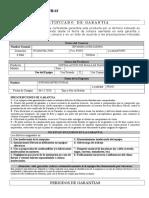 Certificado de Garantia Maria
