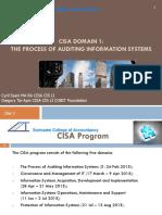 CISA Student Handout Domain1