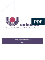 Manual do candidato - Vestibular 2019 Unioeste