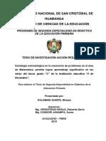 Tesis Estrategia metodológica en la resolución de problemas en el área de Matemática