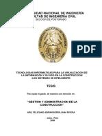 """Tesis - Gestion y Administracion de La Construccion"""""""