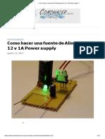 ▷ Como hacer una fuente de Alimentación 12 v 1A Power supply √