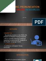 article presentation 1 teaching pronunciation using online