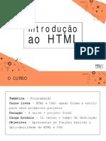 Introdução ao HTML - Projeto Hello World