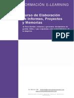 -Elaboración de Informes Proyectos y Memorias