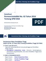 Sosialisasi Permenristekdikti 62 2016