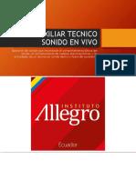Allegro - Malla Auxiliar Técnico Sonido en Vivo