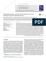 Antibacterial Properties of Metal and Metalloid Ions in Chronic Periodontitis and Peri-implantitis Therapy