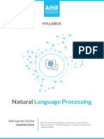 Syllabus Natural Language Processing 2019 AIHR Academy