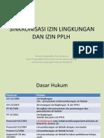 Sinkronisasi Izin Lingkungan Dan Izin Pplh Dlm Rpp Ppa - Eos