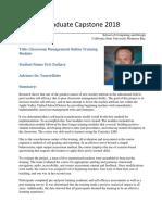 eric zachary one page capstone summary revised