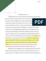 delirious essay  1