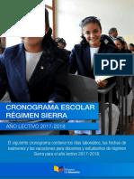 Cronograma Escolar Sierra Amazonia 2017 2018