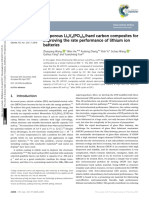 3D Porous Li 3 v 2 PO 4 3 Hard Carbon Composites f
