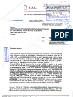 Carta notarial - Hanalei S.A.C