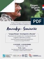 AMANDAJE / Seminario - Lengua Manjui