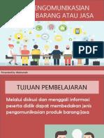 Peerteaching_jenis Komunikasi Produk Barang