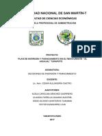Proyecto de Decisiones de Inversión y Financiamiento