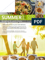 2018 Summer 1200 Calorie Menu