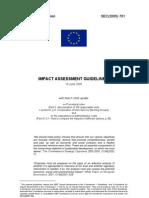 Impact Assessment Guidelines - 2005 - EU