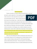 major paper 3 edits english 101