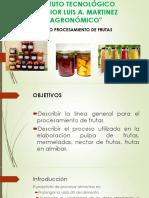 Curso de Procesamiento de Frutas