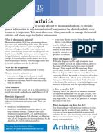 Gout Causes Diagnosis Treatments Brochure