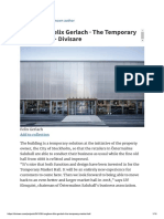Tengbom, Felix Gerlach · the Temporary Market Hall · Divisare