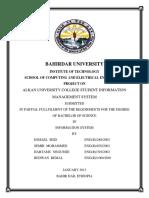 University College Student Information Management System
