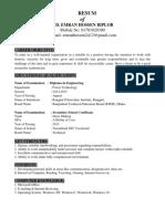 Bangladeshi CV Template