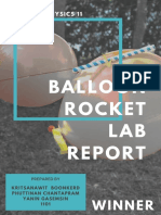balloon rocket lab report
