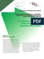 Brochure St Lp Licence Professionnelle Lpro - Mai Trise de l Energie Electricite Developpement Durable - Sera