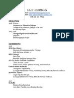 Art Resume PDF 2018